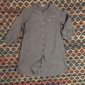 Tops - Chambray Button Down Shirt Dress
